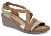 Rory Russo Tan Metallic Wedge