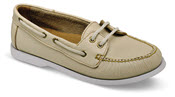 Carolyn Cream Boat Shoe