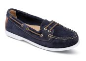 Carolyn Navy Suede Boat Shoe
