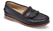 Tess Navy Kiltie Loafer