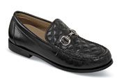Donna Black Quilted Loafer