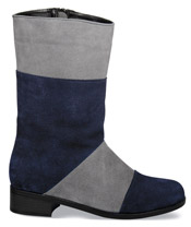 "Wendy Navy/Grey 10"" Zip Boot"