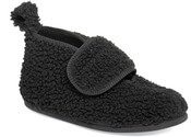Sylvia Black Fleecy Slipper Boot