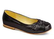 Angie Black Toe Wrap Flat