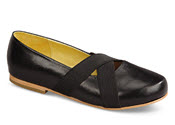 Allie Black Crisscross Flat