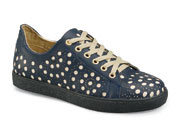 Jackie Navy Leather Sneaker