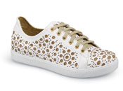 Jackie White Leather Sneaker