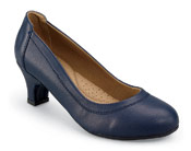 Kristin Navy Leather Pump