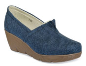 Sarah Navy Denim Wedge