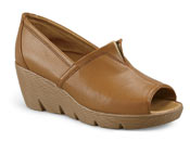 Sally Tan Leather Wedge