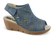 Shirley Denim Blue Perf Wedge