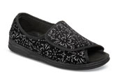 Marla Black Tapestry Slipper
