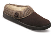 Judy Brown Knit Collar Slipper