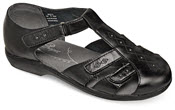 Heather Black Fisherman Sandal