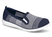 TravelFit Slip-on Navy Stripe