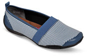 Carol Blue/White Striped Flat