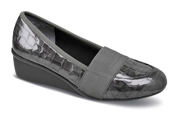 Erica Grey Croc Patent Wedge