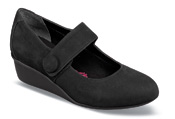 Elsa Black Nubuck Wedge