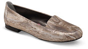Regan Gold Metallic Snake Flat