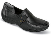 Cynthia Black Wedge Slip-on