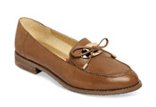 Dana Coffee Bow Tie Loafer