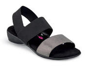 Melissa Black/pewter Stretch Sandal