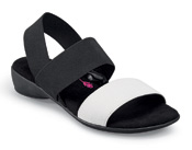 Melissa Black/white Stretch Sandal