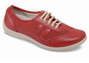 Julie Red Leather Sneaker