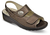Hallux Metallic Brown 3-Strap