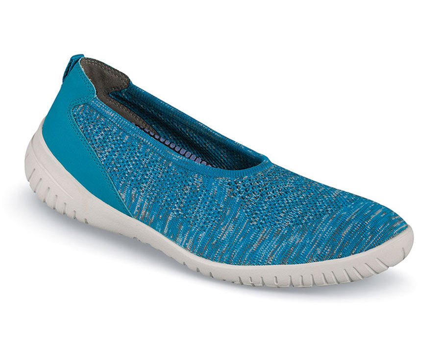 Knit Ballet Teal Heather Flat Hitchcock Wide Shoes