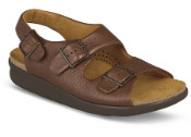 Relaxed Amber 3-Strap Sandal
