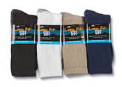 Loose Fit Stays Up Crew Socks