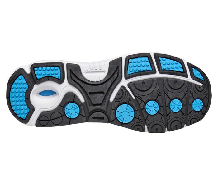 Silver/blue W3040 Running Shoe