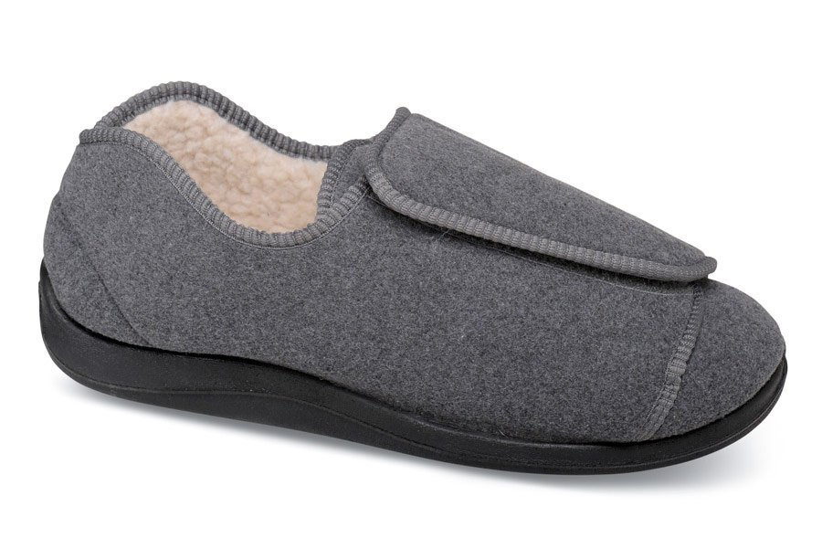 Wrap-around Grey Lined Slipper