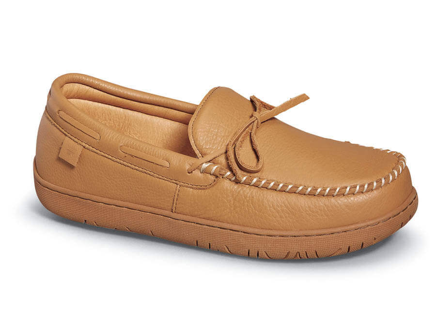 Tan Lake Placid Deerskin Slipper