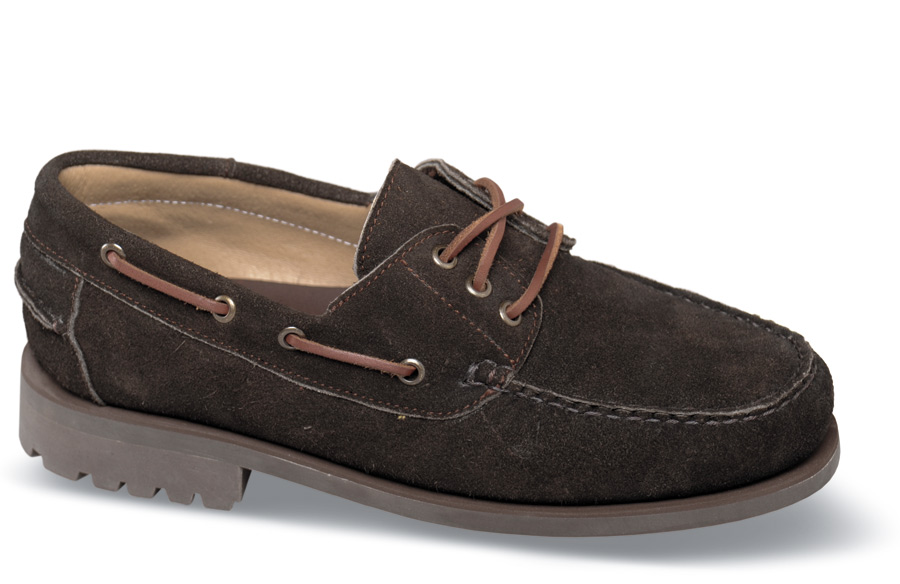 Brown Suede Lug Sole Moc