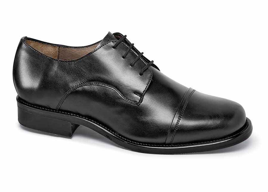 Black Cap-Toe Oxford