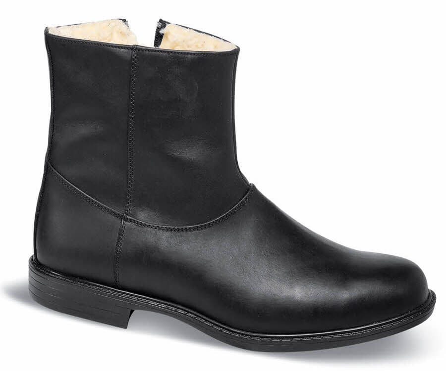 Wool-Lined Black Boot
