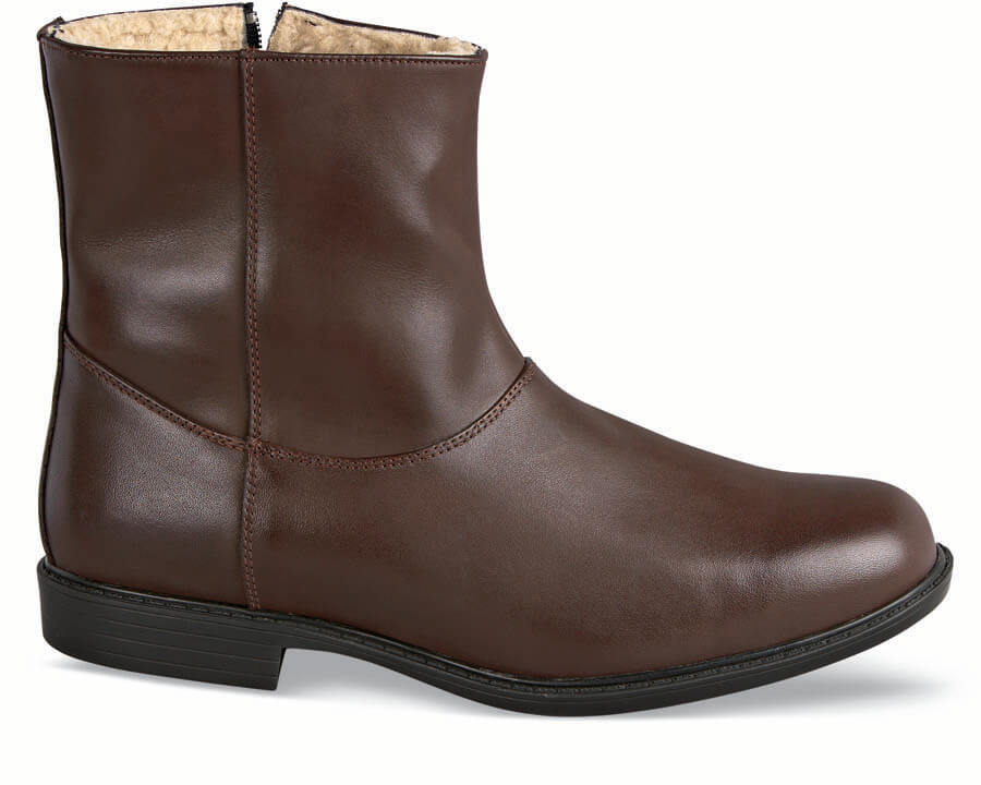Pile-Lined Brown Boot