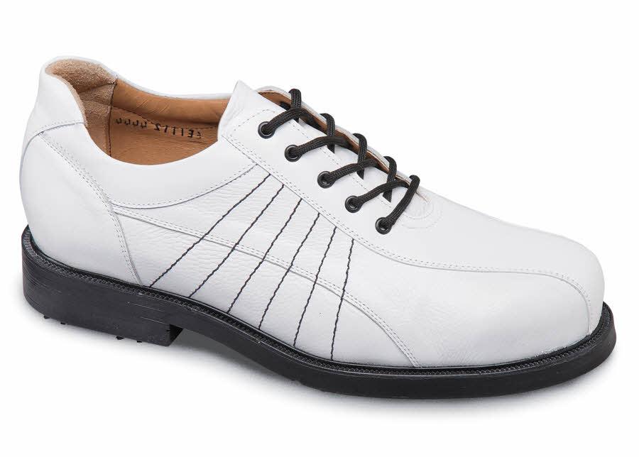 White U Lace Golf Shoe Hitchcock Wide Shoes