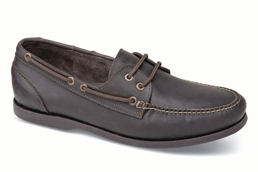 Brown Dark Soled Boat Shoe