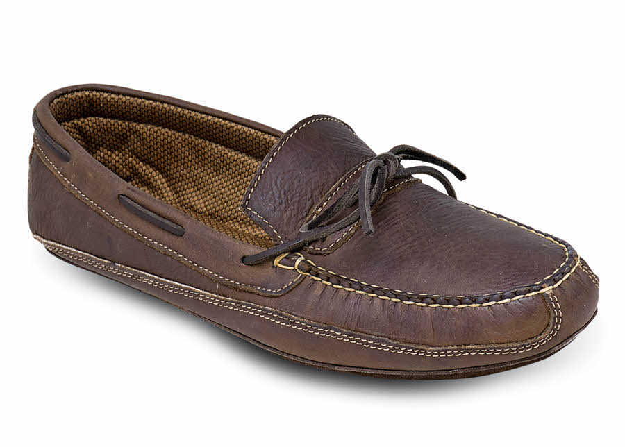 Brown Soft Sole Moc Slipper