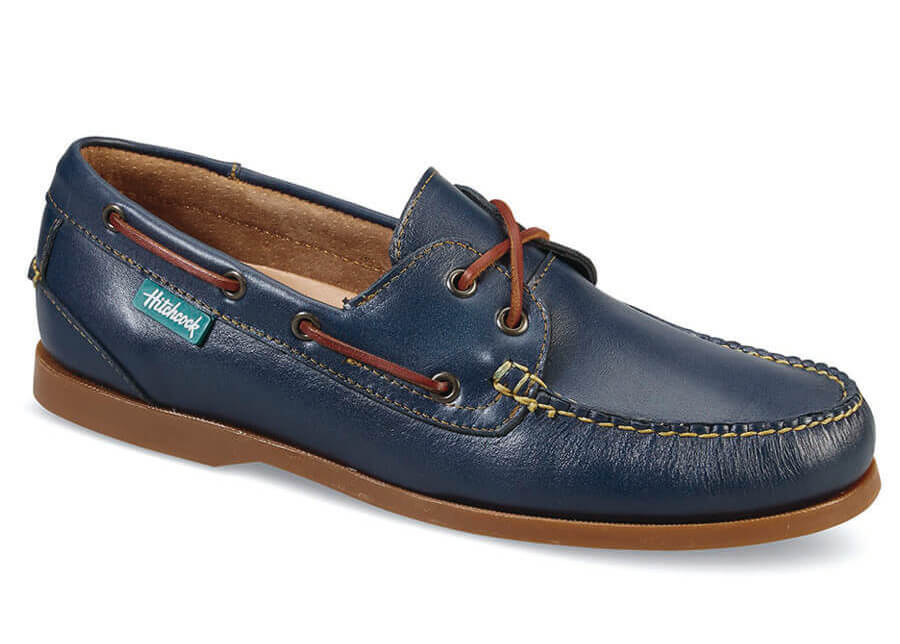 Midnight Blue Boat Moccasin