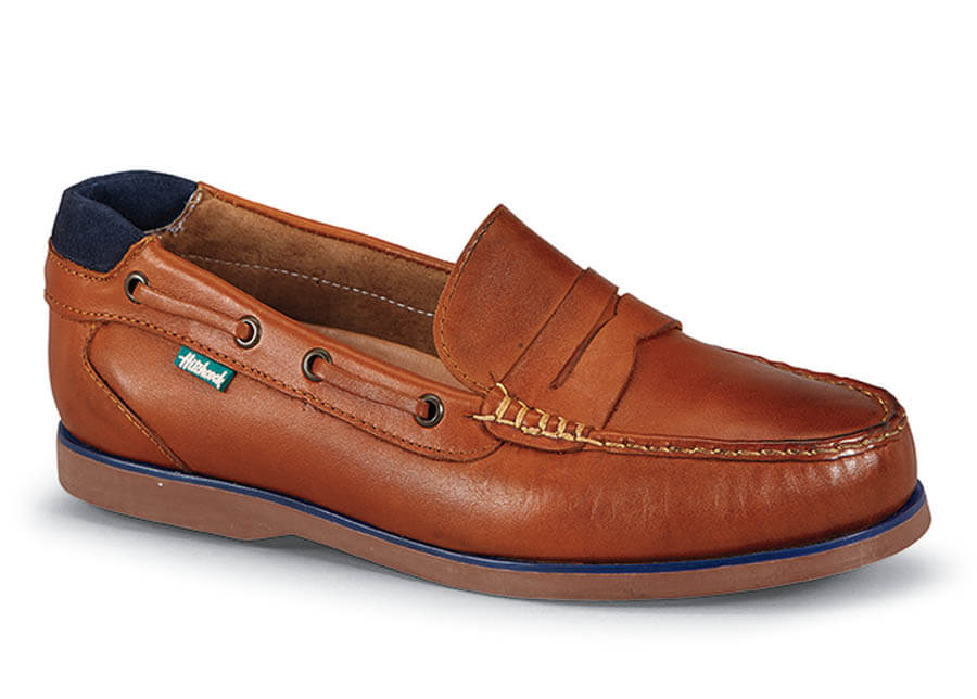 Tan Hand-Sewn Boat Sole Loafer