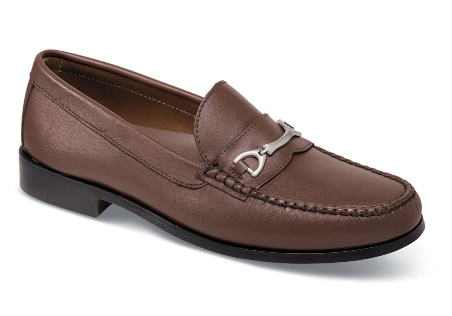 Brown Metal Ornament Loafer