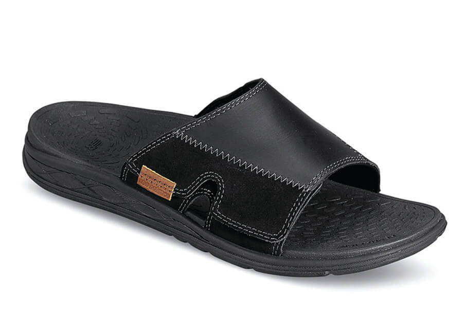 Revitalign Black Slide Sandal