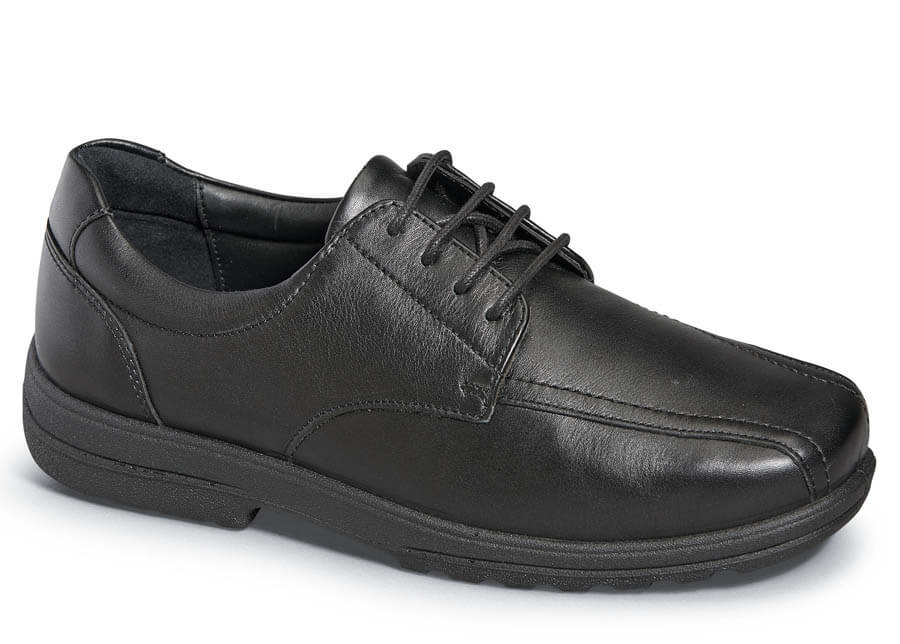 Black 4-eyelet Bicycle Toe Oxford