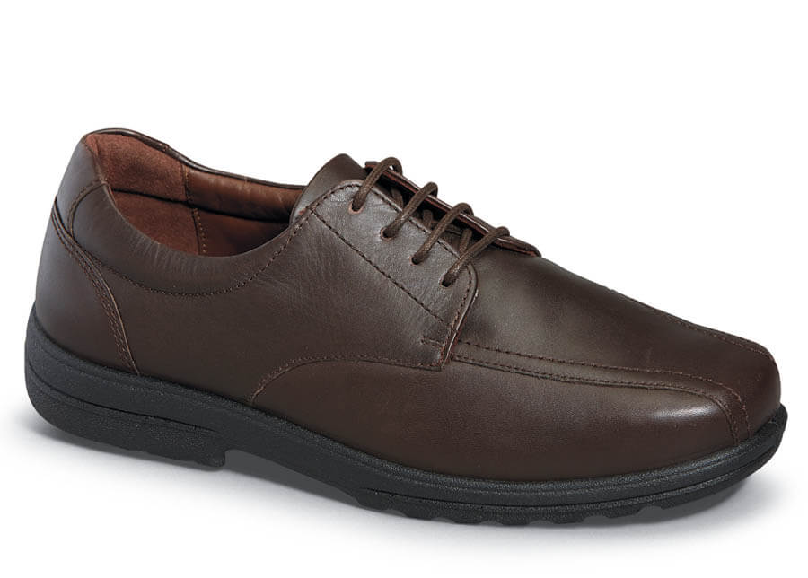 Brown 4-eyelet Bike Toe Oxford
