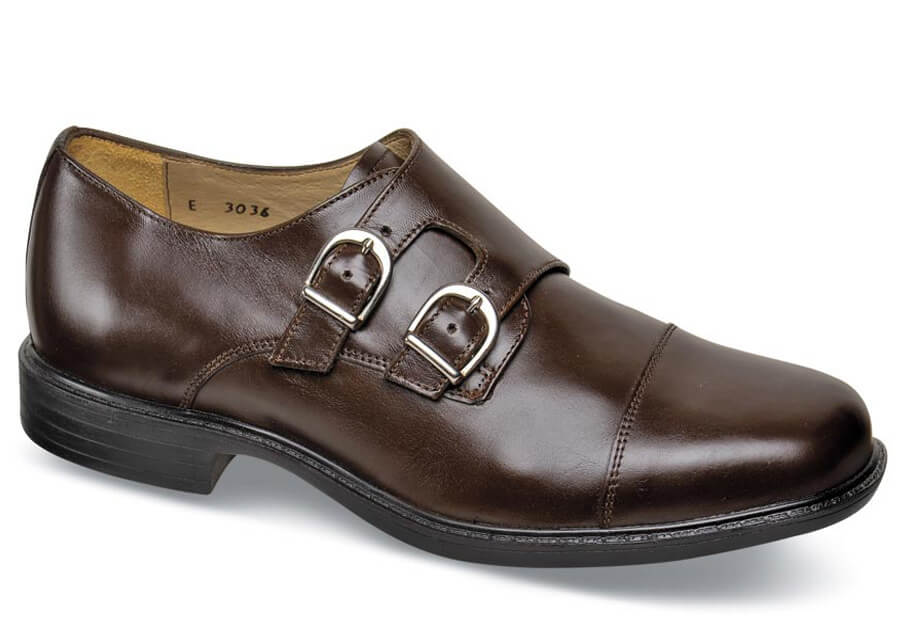 Brown Double Monk Strap