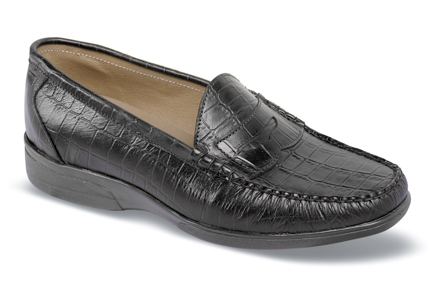 Black Croco Casual Slip-on